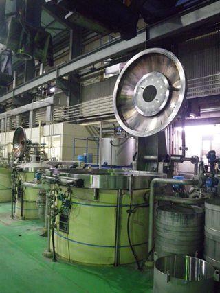 一度に最大500kgのコットン繊維を酵素を使ってグルコースに分解できる糖化槽