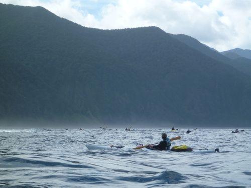 8、新谷氏が後続を見守る 岬はすぐそこ(神山)