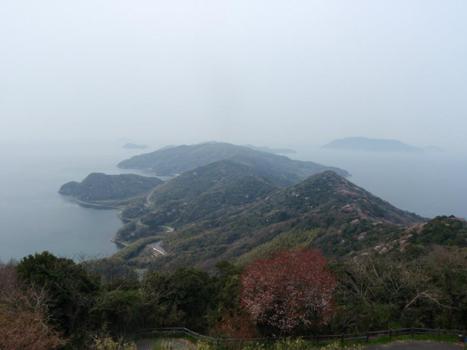 上盛山から長島と祝島