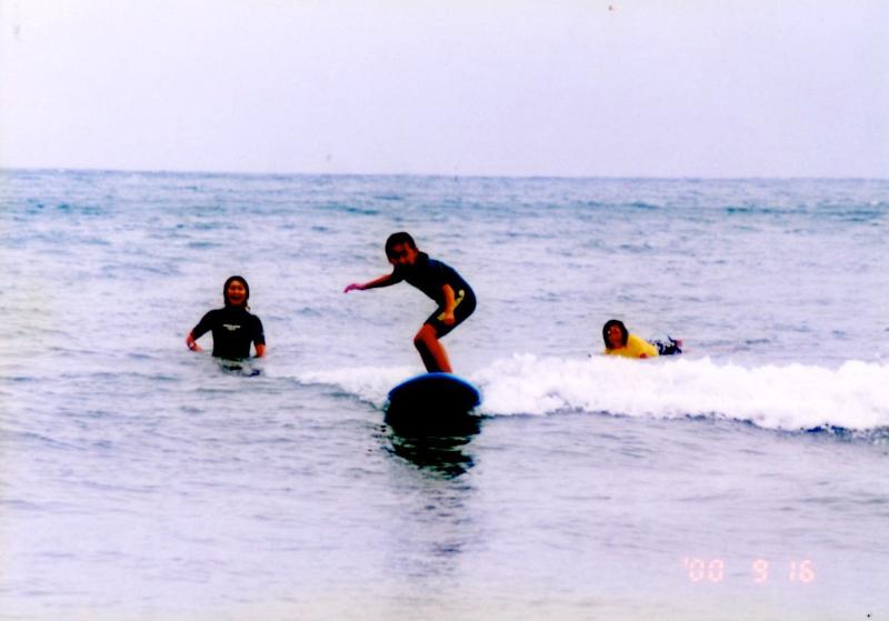 ①サーフィンと私。