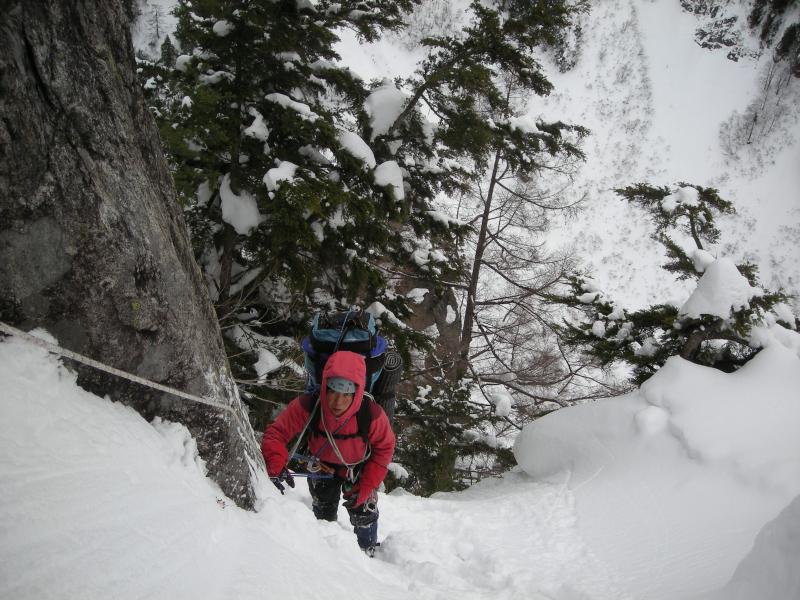 黒部丸山東壁、黒部横断挑戦中 2010年1月